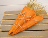 Burlap carrot bundle, Easter decor, spring decor, home decor, carrott pillow, easter basket, farmhouse decor, Jumbo fabric carrots