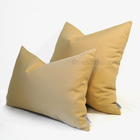 Gold Outdoor Pillow Cover Decorative Pillow Case by Mazizmuse