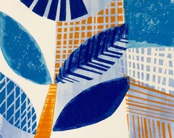 Eden Linocut and Mono Original Print