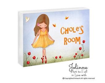 Custom Baby Name door sign, girl bedroom sign personalized, Kids room door sign, Custom name Door Sign, Kids Bedroom Door Hanger, Artwork