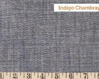 BTY - Robert Kaufman House Of Denim Chambray Union Fabric - 1 yard BTY