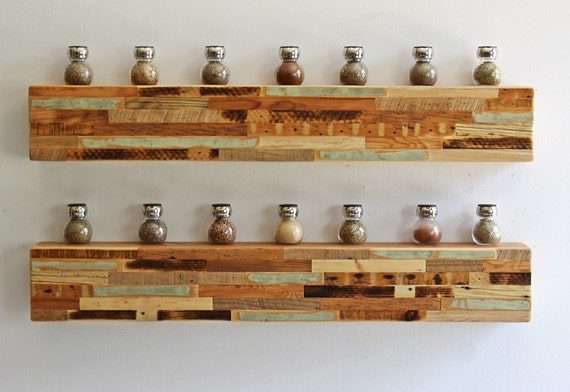 Reclaimed Wall Art Floating Shelf