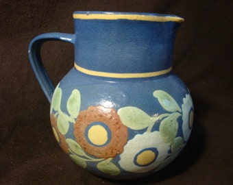 Vintage french pottery country pitcher