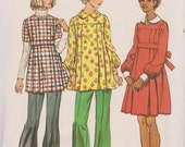 Vintage 1970's Simplicity Uncut Sewing Pattern 5870 Maternity Short Dress or Tunic in Misses' Sizes Size 18
