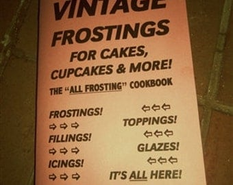 VINTAGE FROSTING COOKBOOK for cakes, cupcakes, and more