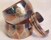 3 Pc Vintage Copper Bracelet Lot-Copper Bracelet-Bracelets-Vintage Jewelry-Vintage Bracelet-Boho Bracelet-Boho Jewelry-Copper Cuff