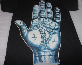 T-Shirt - Fortune (White/Blue on Black)