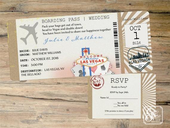 Vegas Wedding Invitation: Las Vegas Wedding Invitation Destination By