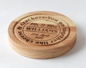 Personalised Wedding Gift - Cheese board and knives - Mr & Mrs Surname and date