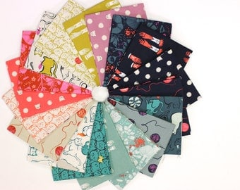 Cat Lady Fat Quarter Bundle by Sarah Watts for Cotton + Steel (January 2016)