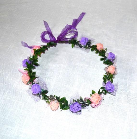 Flower Crown Purple: Flower Crown Peach Flower Crown Purple Flower Crown Flower