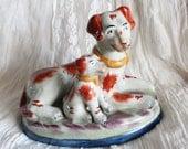 Vintage Ceramic Dog Statue Rare