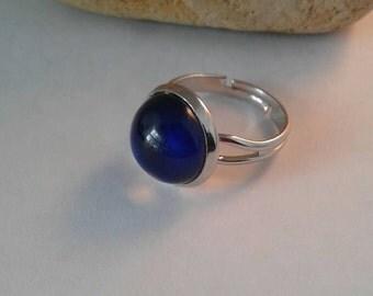 Mood Changing Ring, 12mm,Rings,Hippie,Boho,Adjustable Ring,Mood Ring,Real Mood Ring,Silver Tone Mood Ring