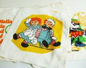 4 Novelty Wash Clothes - Raggedy Ann and Andy, Minnie Mouse Snoopy