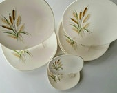 Eight Peice Knowles Plates:  October Ode and September Song China, Ovenproof