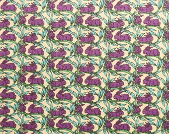 Liberty tana lawn printed in Japan - Cotton tail - Purple turquoise mix
