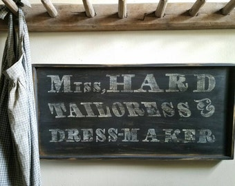 Early looking Antique Primitive Dress maker Sign