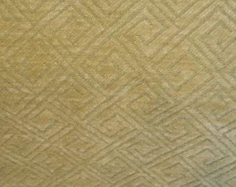 Lime Apple GREEN DIAMOND Textured CHENILLE Upholstery Fabric, 25-14-09-0814