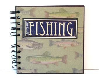 Fishing Scrapbook Mini Album, 6x6 Premade Mini Scrapbook Album