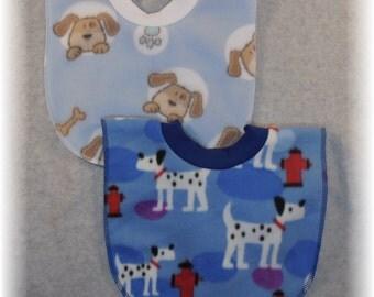 Dalmatian Baby Bib and Puppy Baby Bib Set