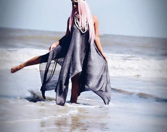 Gypsy soul autumn slip dress, boho dress, Bohemian metallic silver fall dress, Boho dresses, Beach girl, anthro girl, True rebel clothing OS
