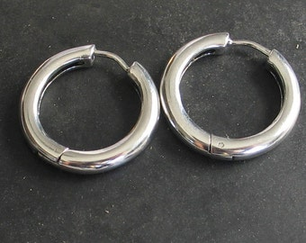 Unique Hinged Hoop Earring Related Items Etsy