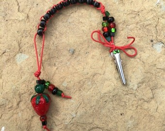 Straight Up STRAWBERRY - Golf Stroke Counting Beads - MINI by TallyGators™
