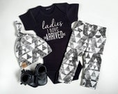Ladies I have arrived | baby boy take home outfit | tribal print organic leggings | hipster baby | baby boy outfit |
