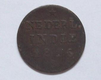 1826 Dutch East Indies 1/2 Stiver