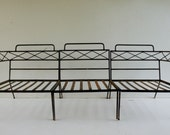 Mid Century 3 piece wrought iron patio Sofa Salterini Woodard era HOLD FOR JUDY