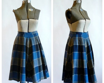 vintage 1950s Peck & Peck plaid skirt