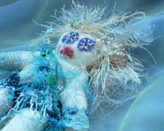 Fabric Doll, Voo Doo Doll, Voodoo Doll, Goth Doll by gothB4play