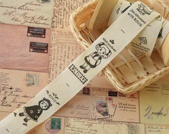Sweet DOLLS sewing tape 3m cotton label ribbon