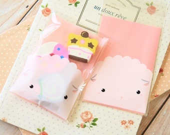 Sheep cartoon cellophane cookie bags sweets bags