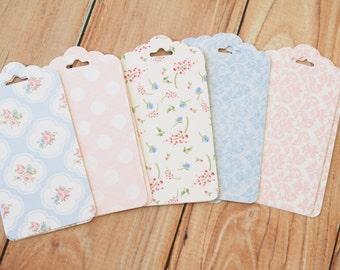 Pretty Polka Dots Shabby Chic Floral Ornate Shape Deco Tags