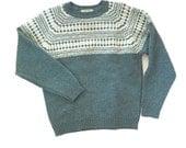 vintage Fair Isle  Sweater, Shetland Wool Sweater, Canada