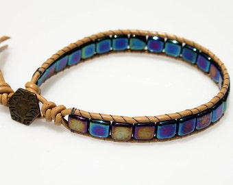 Wrap Beaded Bracelet - Glass Beads Bracelet - Friedship Bracelet -Teen Bracelet - Hippie Bracelet - Boho Bracelet