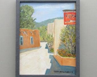 "wall art - ""Santa Fe Side Street"" - original acrylic painting - home decor - framed artwork"
