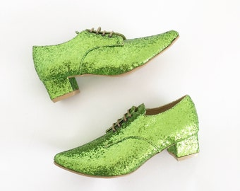 Pony Oxford Vegan Leather Pointed Lace-up heels (Handmade to order)