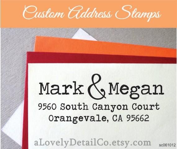Address Rubber Stamp Self ink Custom Made Return Address Custom Return Address Stamp