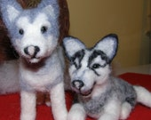 Siberian Huskies Custom Order For  buyestes Handcrafted Soft Sculpture