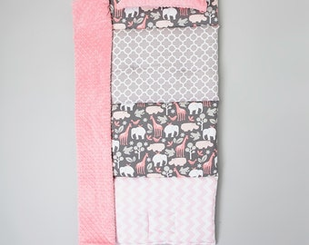 It's a Zoo TWO Quilted Nap Mat by Janiebee Boutique Nap Mats, Toddler Nap Mats, Janiebee Nap Mats