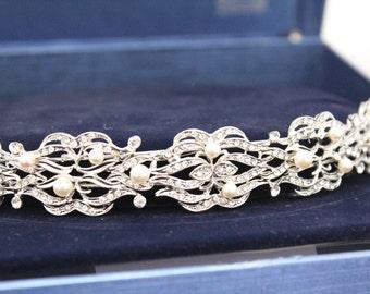 Wedding headband pearl Wedding hair accessories bridal hair piece wedding headpiece bridal headband wedding tiara bridal hair jewelry pearl