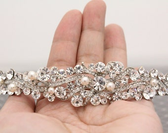 Wedding headband Pearl Bridal headband vintage Wedding Tiaras pearl Bridal Tiaras vintage Wedding hair jewelry Brideeal hair accessory pearl