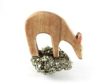 wooden deer toy, deer waldorf toy, wooden deer figurine, waldorf animal toys, vegan toys