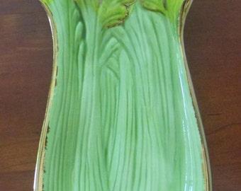 Hand Made Ceramic Celery Dish