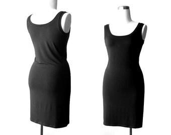 Black dress, Black tank dress, Black day dress, LBD, Summer black dress, Sundress, Womens clothing, Handmade dress