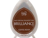 Brilliance Coffee Bean - Great for Stamping in Planners, Erin Condren, Inkwell, Happy Planner - Stamp Ink Pad