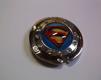 Superman Cabochon Purse Hanger