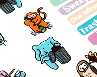 KawaKuma & Friends Household Chore Planner Stickers